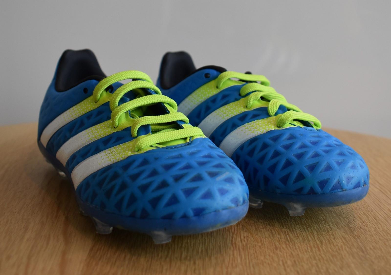 huge discount 74d8e 2ff06 ... order low price knapt brukte fotballsko adidas ace 16.1 fg ag blå grønn  hvit til 28f02