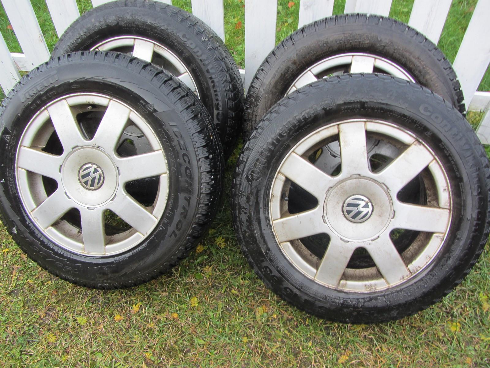 4 stk 195/65 R15 VW.audi Felger med Gode piggfrie vinterdekk for salgs - Verdal  - 4 stk 195/65 R15 VW.audi Felger med Gode piggfrie vinterdekk for salgs. boltsirkel 5x112 Ring:41527034 - Verdal