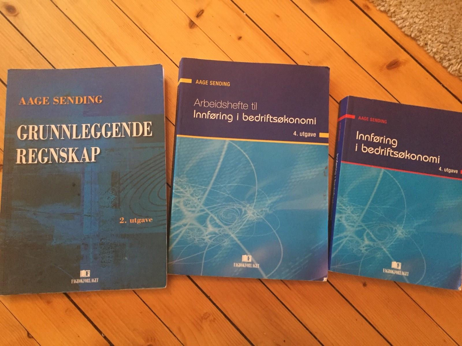 Innføring i Bedriftsøkonomi / grunnleggende regnskap bøker Aage Sending - Oslo  - Selger bøker til bedriftsøkonomi brukt på BI . Arbeidshefter er ikke notert i, regnskap er. samlet 500 - Oslo
