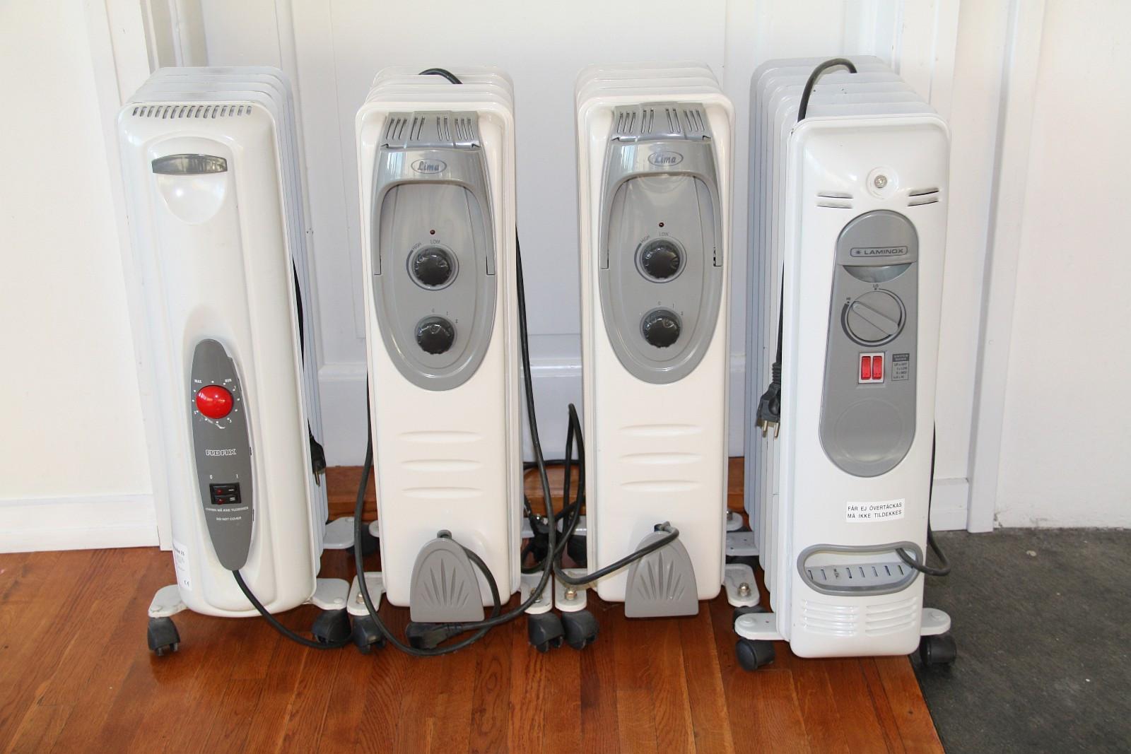Flyttbar oljefylt radiator / oljeovn, 1000W og 1600W - 4 stk - Oslo  - Selger 4 flyttbare oljefylte radiatorer / oljeovner: 1 stk Laminox 1600W, 350 kr 2 stk Lima 1000W , 250 kr pr stk 1 stk Adax 1000W, 250 kr  Røyk- og dyrefritt hjem.  Kan hentes på Smestad.&# - Oslo