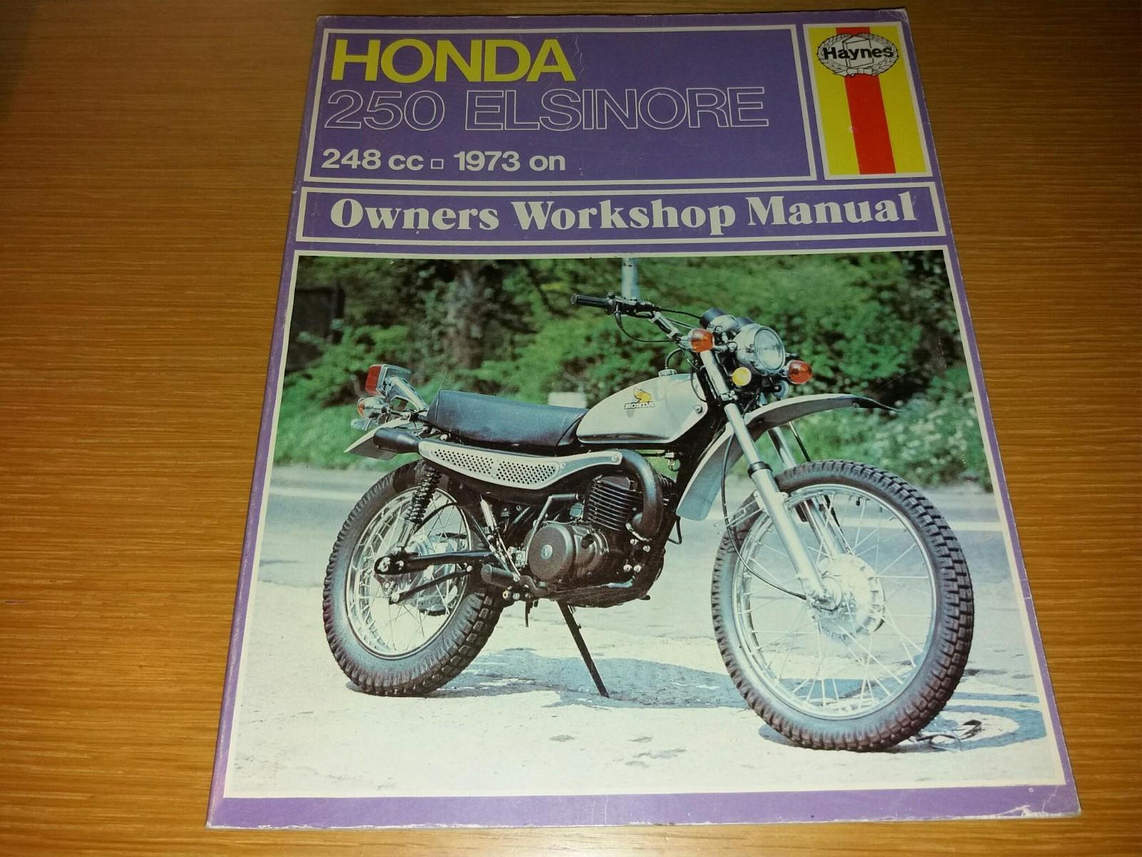 1973 Honda 250 Elsinore Haynes - Mosby  - Meget fin verksted manual fra 1975 Kjekk og ha til du får tak på en slik. Selges kr 290.- - Mosby