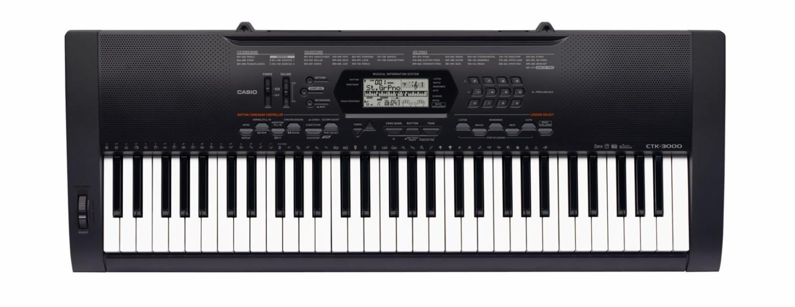 Keyboard Casio CTK-3000 selges billig! - Nyborg, 5130 Nyborg  - Keyboard er i svært god tilstand og lite brukt! Kjøpt for 2093kr. Følger med norsk bruksanvisning og keyboard stativ.   Produktbeskrivelse CTK-3000 får deg inspirert fra første stund med sine 61 trykksensitive tangenter. Op - Nyborg, 5130 Nyborg