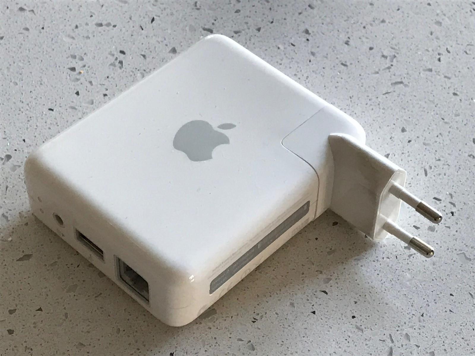 Apple AirPort Express - Oslo  - 10/100 Ethernet WAN eller LAN port Analog/digital audio output jack USB Printer Port (Har blitt brukt for å aktivere AirPlay for Sonos.) - Oslo