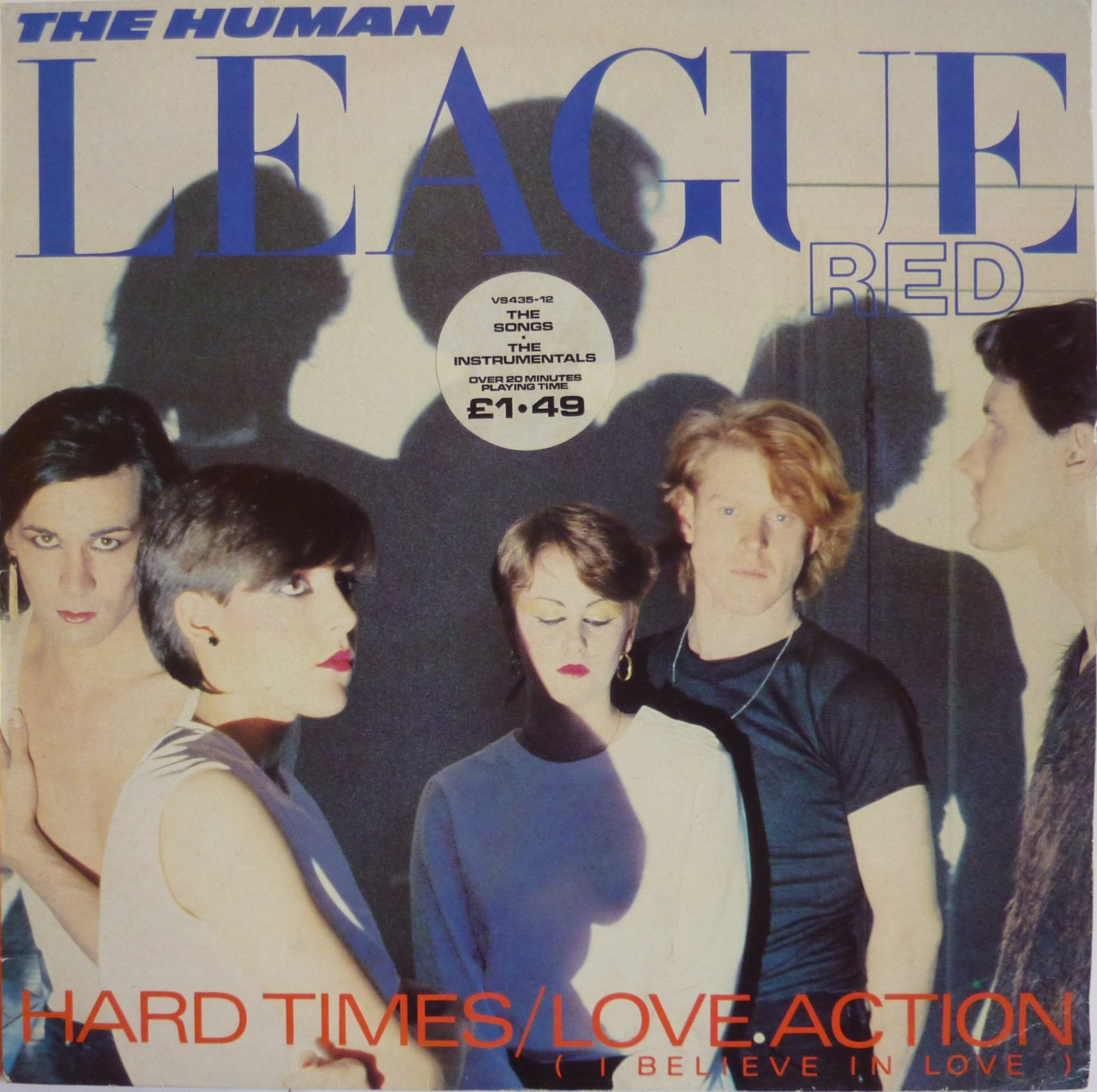 "The Human League - Hard Times/Love Action (1981) - Ski  - The Human League - Hard Times/Love Action. Utgitt på Virgin, UK 1981. Vinyl maxi singel 12"". Label VS435-12.