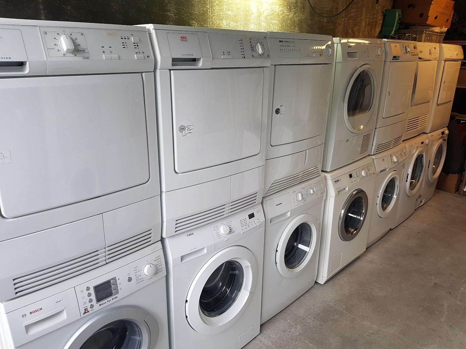 Vaskemaskiner - Med garanti - Bryne  - Vaskemaskiner  Nyoverhalte vaskemaskiner selges med 3 mnd full garanti.   Ulike merker: AEG / Electrolux / Whirlpool / Bosch / Bauknecht / Siemens / Samsung  1200 - 1600 o/min 6-9 kg. - Bryne