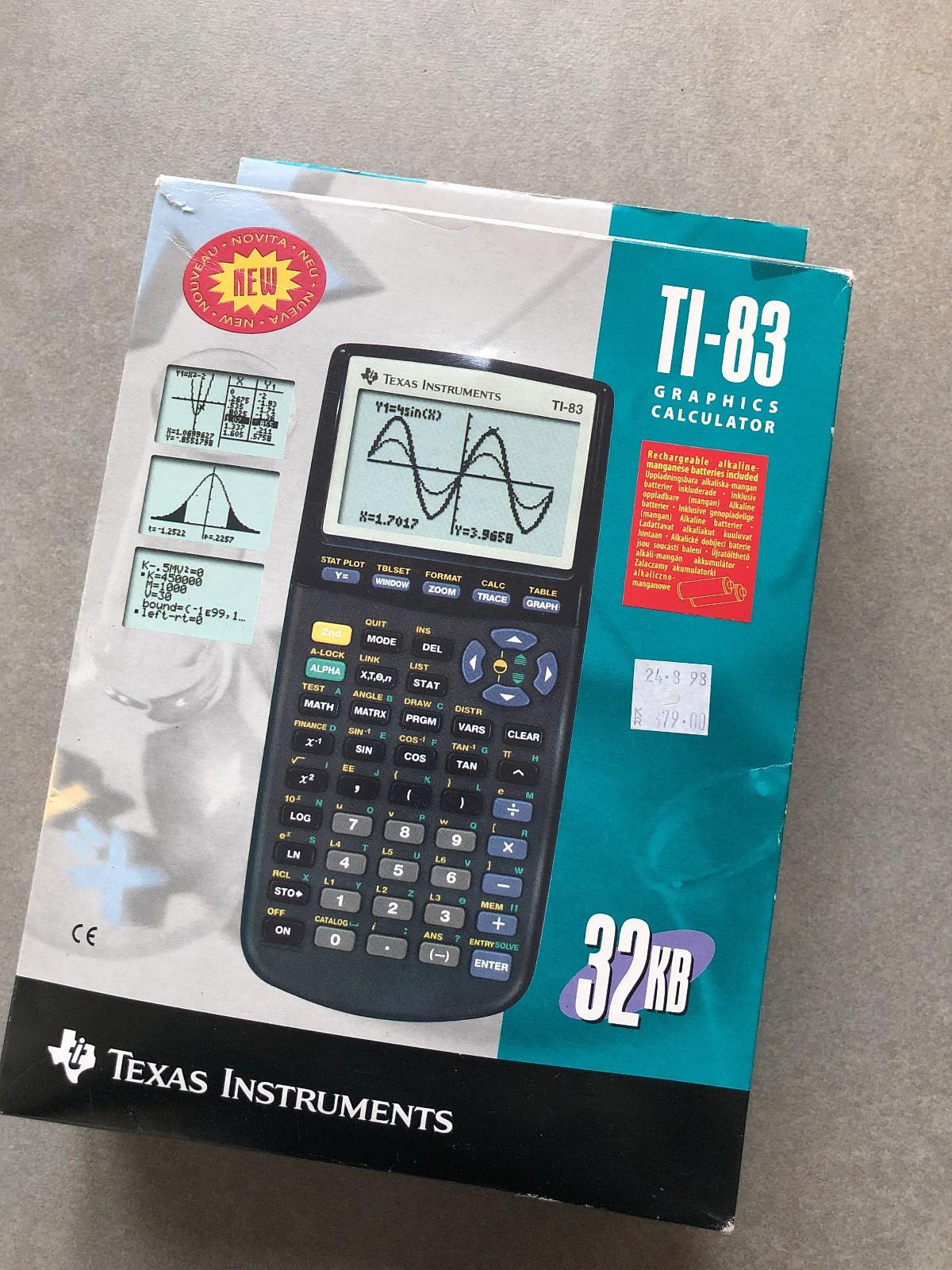 Kalkulator - Lillesand  - TI-83 Kalkulator. Regn enkelt ut brøk, kvaderatrot, kubikkrot osv med grafer. Et must i skolesammenheng på ungdomskolen og videregående. Nypris 879,- - Lillesand