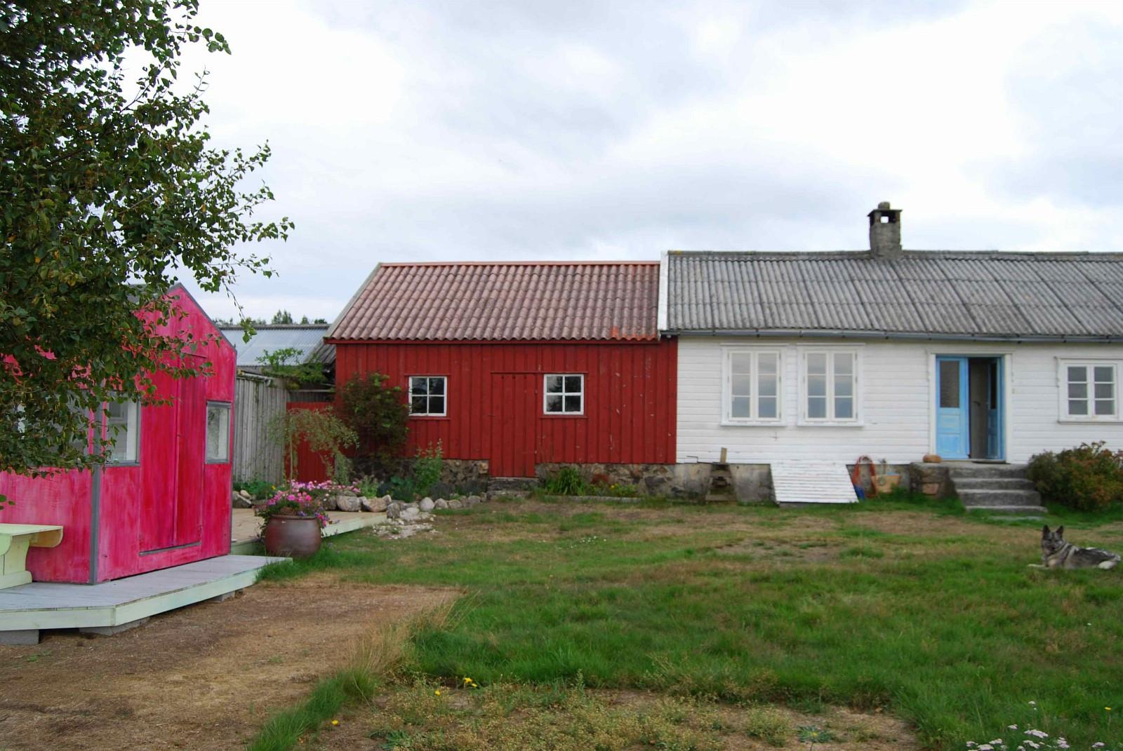 Huset er et typisk langhus fra Lista