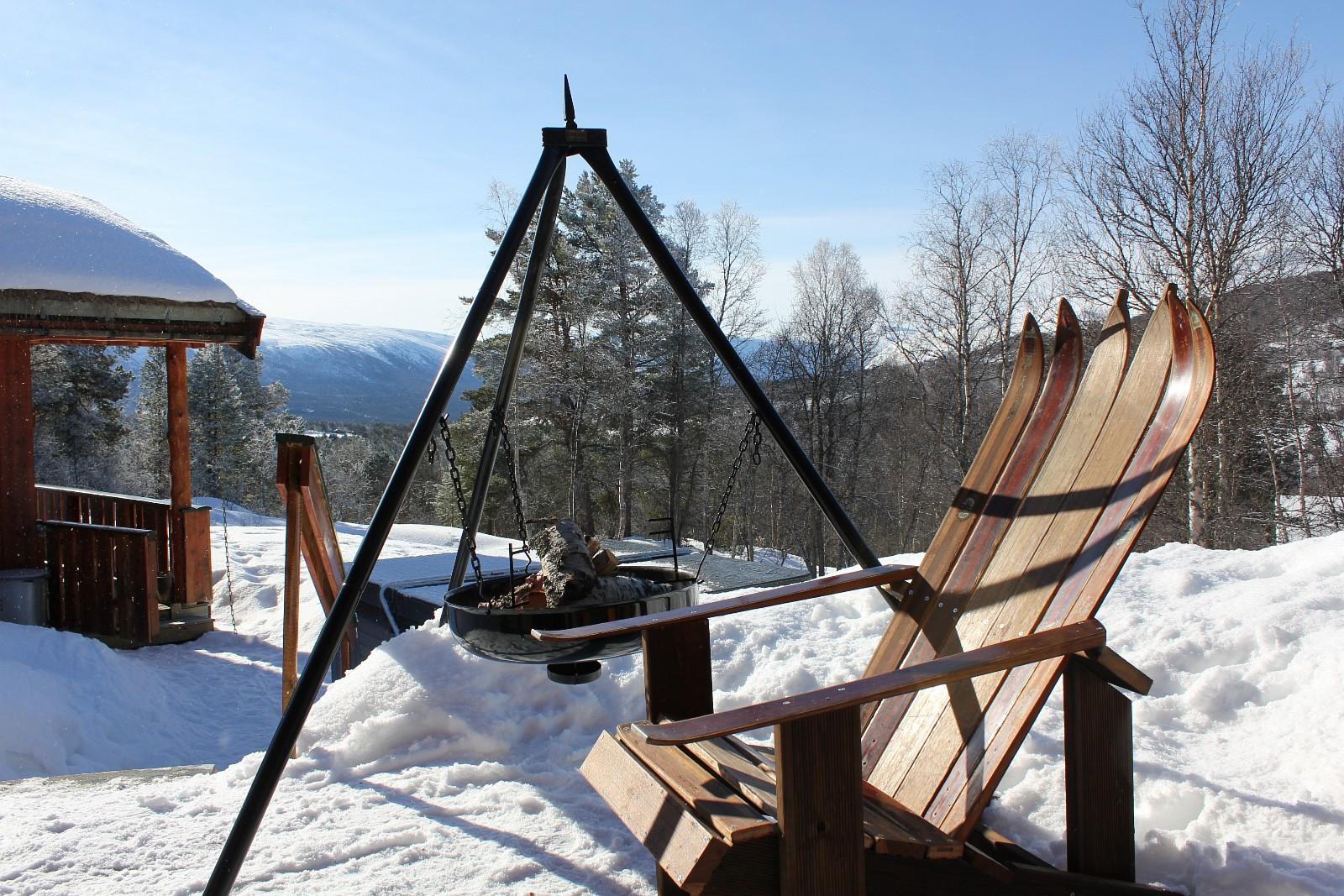 Stol Laget Av Ski