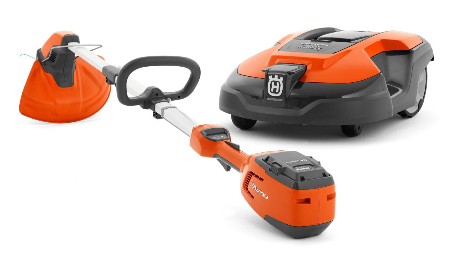 Husqvarna 420 Automower Robotklipper og Batteritrimmer PakkeTilbud | FINN.no