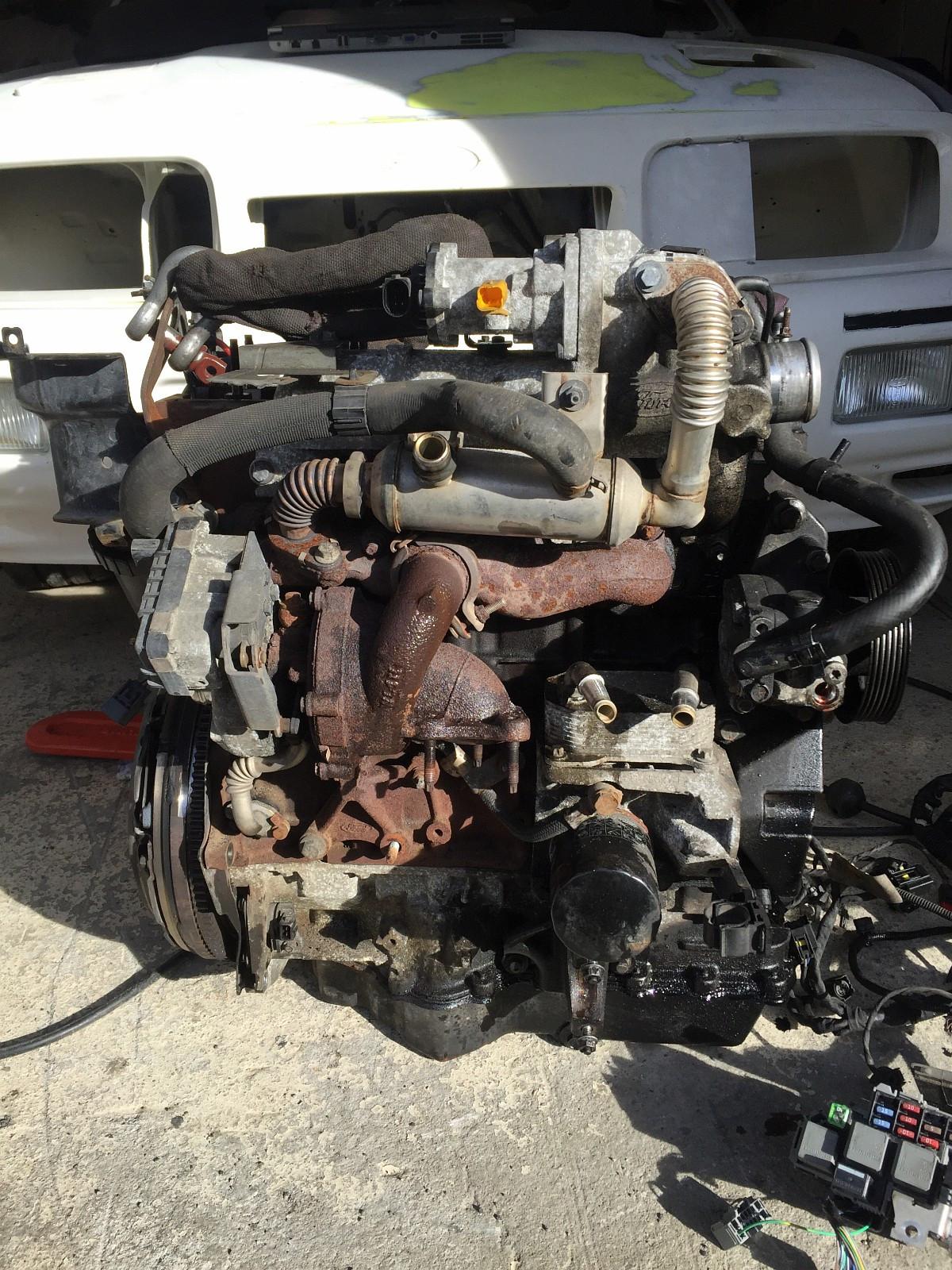 Ford - Neslandsvatn  - Ford 2007 mod 1,8 turbo diesel motor selges i deler. Mangler dynamo og starter. Selges hel for 3000kr eller i deler. Motor gått 280t km Turbo er Ok dyser og diesel pumpe er Ok. Havari på indre registerreim er årsaken til havari. Ledning - Neslandsvatn