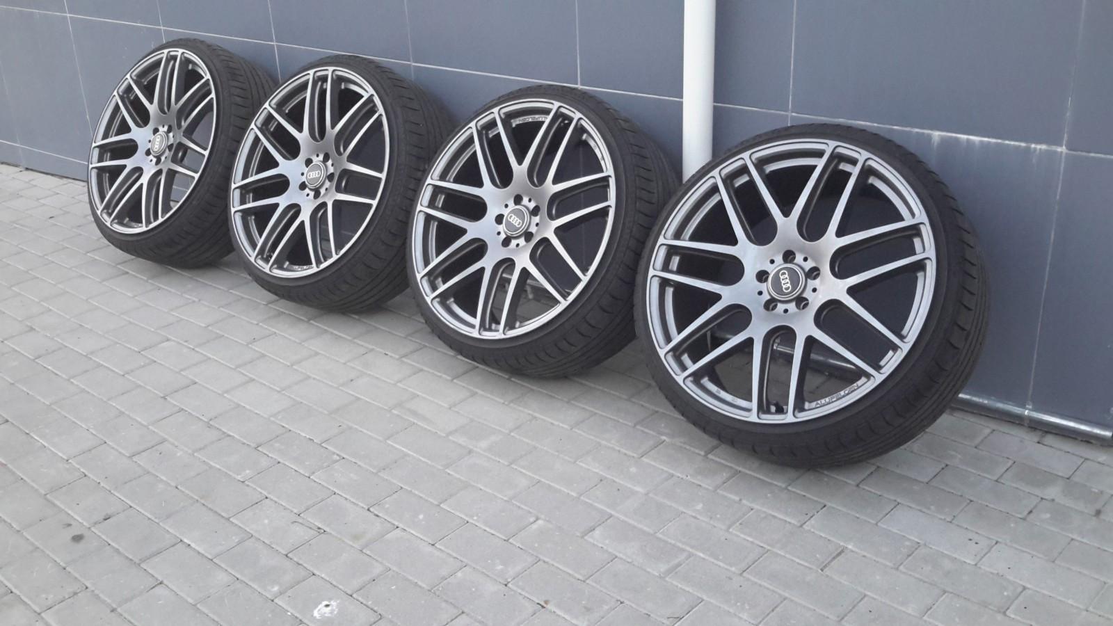 """22"""" tøff ocean hjul til salgs - Sandane  - 22"""" Ocean felger med dekk til salgs. Dekk må skiftes. Felger må sees. Har ståt på Audi A8 men passar for fleire modeler.  Innpres Et50 Bredde 10J  Kan sende - Sandane"""