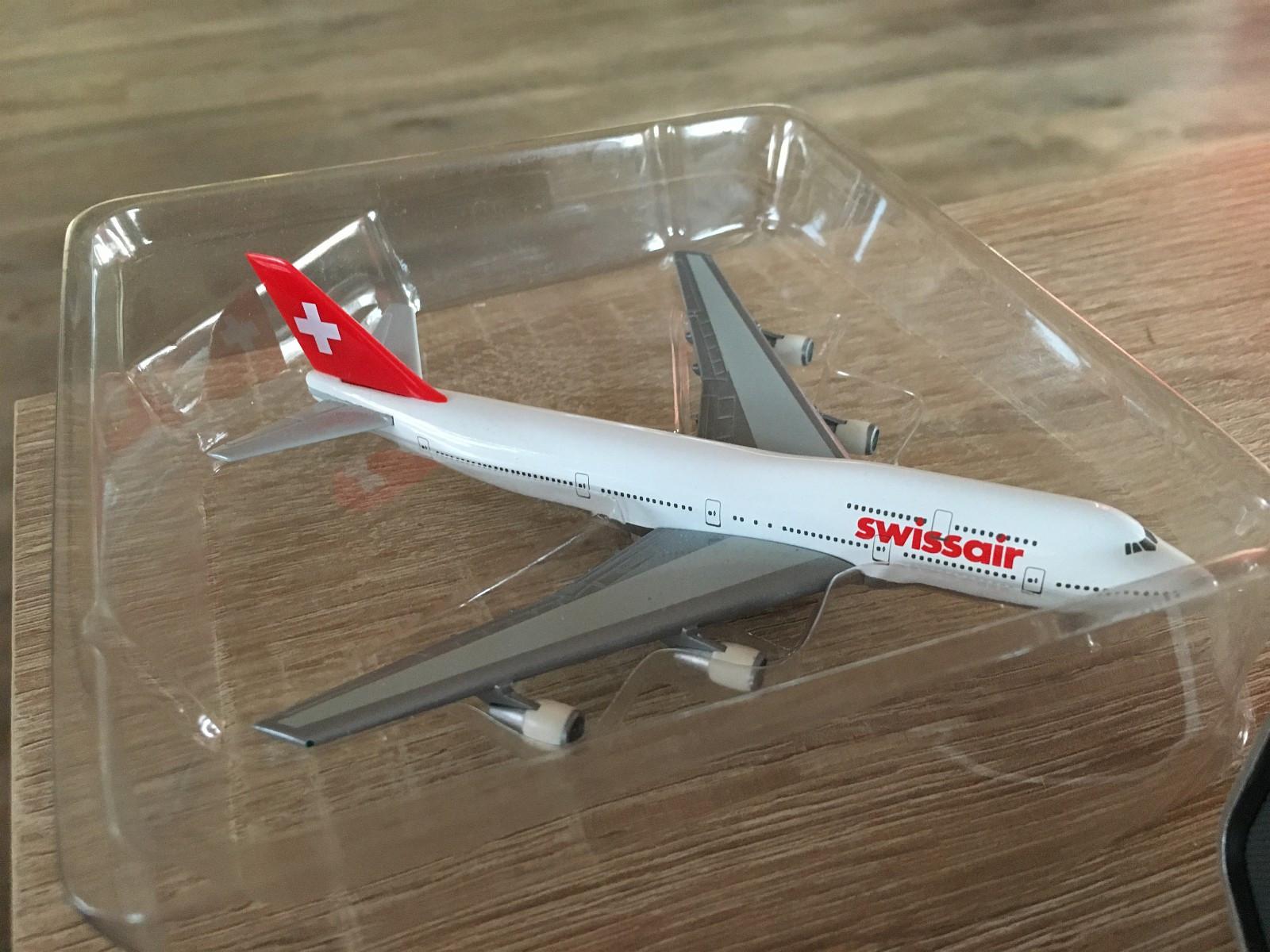 """Swissair B747 herpa 1:400 - Tromsø  - Swissair """"herpa"""" modell i 1:400 av B747 selges. Kan sendes. - Tromsø"""