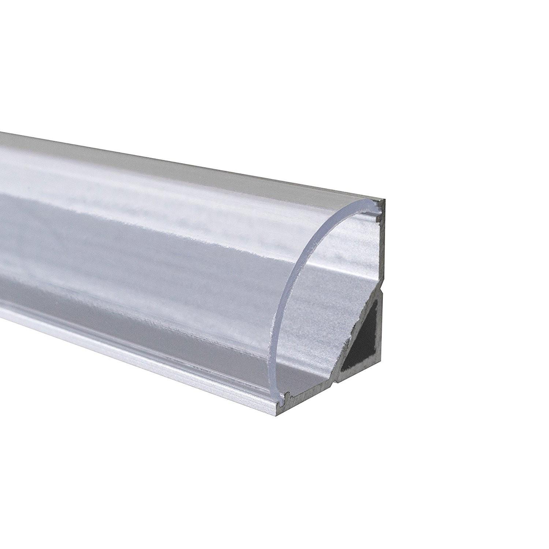 led aluprofil - Evje  - led alu profile inkl pc cover opal 16 x 16 mm til 10mm led 2meter  10 meter igjen ny pris ca 230kr  pris 120 kr per 2 meter - Evje