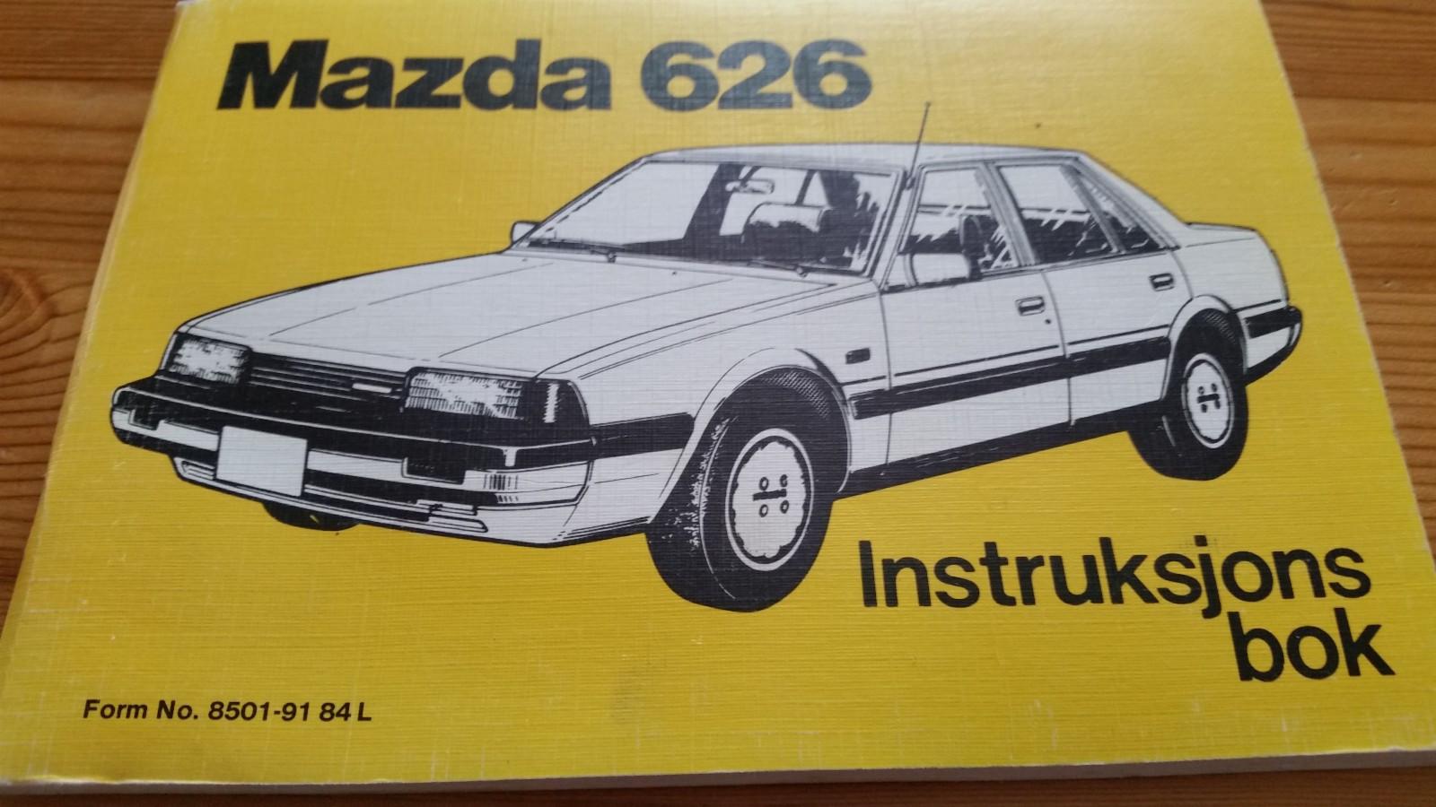 Mazda 626  instruksjons bok - Mesnali  - Mazda 626 instruksjons bok. Som ny - Mesnali