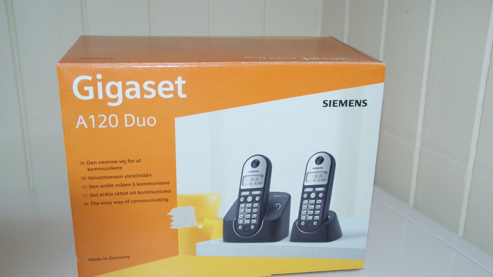 Telefon sett - Løkken Verk  - Siemens Gigaset A 120 DUO.tråløse med basestasjoner selges høystbydende - Løkken Verk