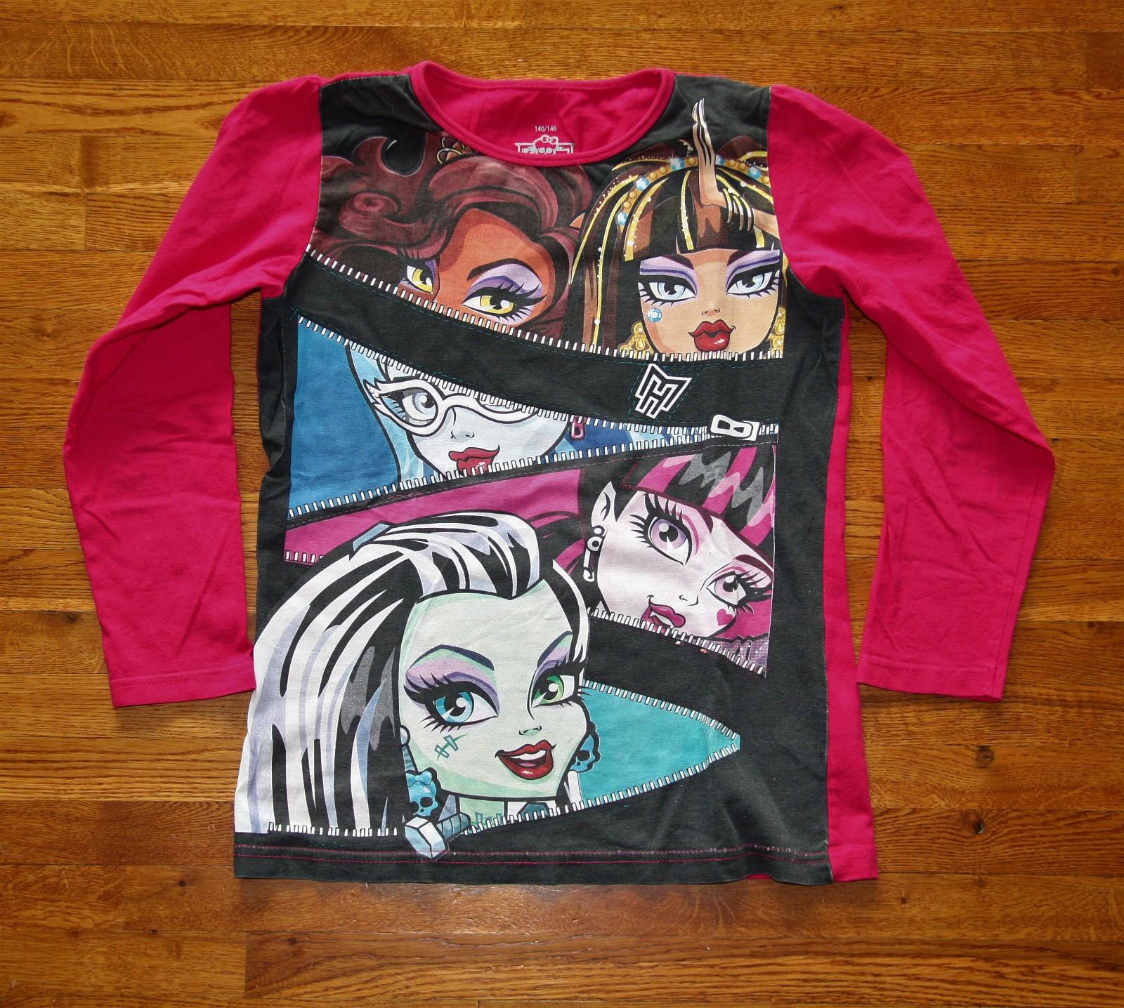 88277c00 Monster High, Topp med print, Langermet, Rosa Størrelse 140/146 ...