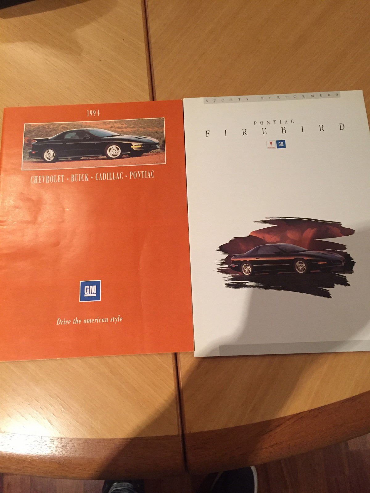 1994 Pontiac Firebird Bilbrosjyre - Oslo  - 1994 Pontiac Trans Am/ Firebird kr.200.- 1994 GM Samlebrosjyre Norsk kr.200.- - Oslo