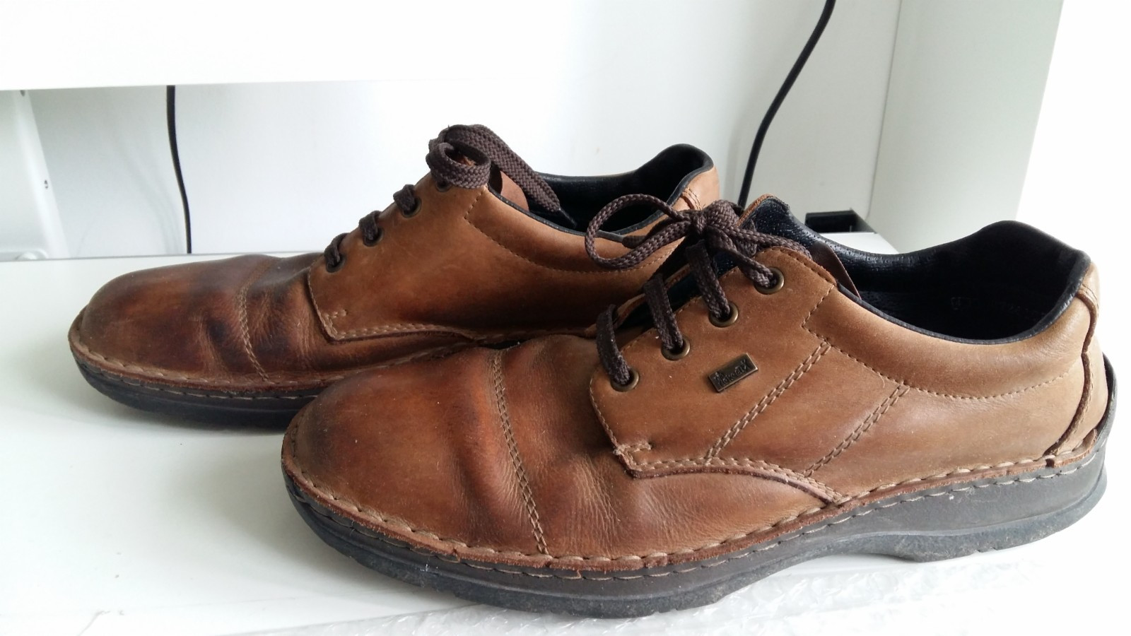 Herre Skin Sko str 43 , tan leather men shoe | FINN.no
