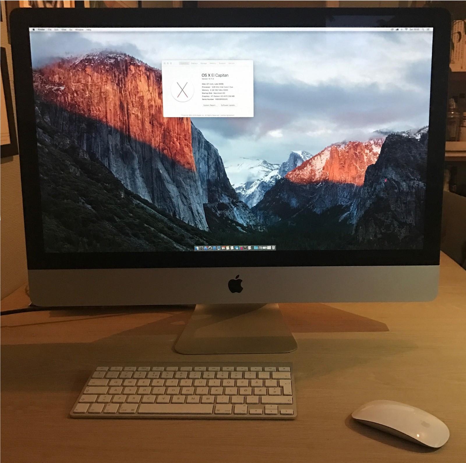 """27"""" iMac sen 2009, 1TB HD, 8GB ram. - Trondheim  - 27"""" iMac sen 2009, 1TB HD, 8GB ram.  Selger min 27"""" mac med trådløst tastatur og mus.  Aldri hatt problemer med dataen.  Originalemballasje medfølger.  Må hentes i Trondheim. - Trondheim"""