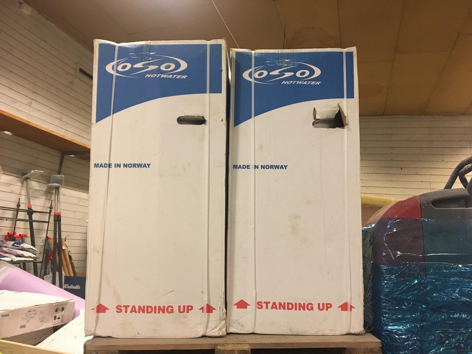 OSO LIGGENDE VARMTVANNSBEREDER Floorsmart RL 200L - 1,95 kW - Nesoddtangen  - Har liggende 2 stk OSO varmtvannsbereder Floorsmart RL 200L - 1,95 kW liggende beredere fra 2015, som er nye i eske. Selges for kr 4.500,- pr stk. NY PRIS KR 13.800,- - Nesoddtangen