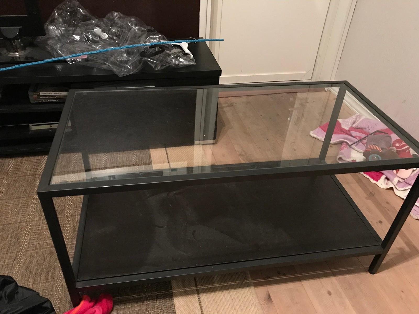 Sofabord/glassbord - Bønes  - Brukt glassbord god bort mot henting.  Lite aktivt brukt, og fremstår i god stand.  Mål: 90x45x45 - Bønes