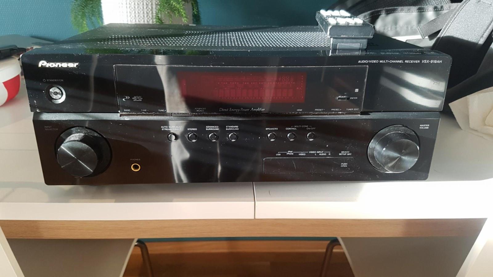 Pioneer VSX-919AH 7.1 - Hundvåg  - Pioneer VSX-919AH 7.1 Receiver  For mer info: https://www.netonnet.no/art/NoSection/Pioneer-VSX-919AH/126607.9223372036854775807/ - Hundvåg
