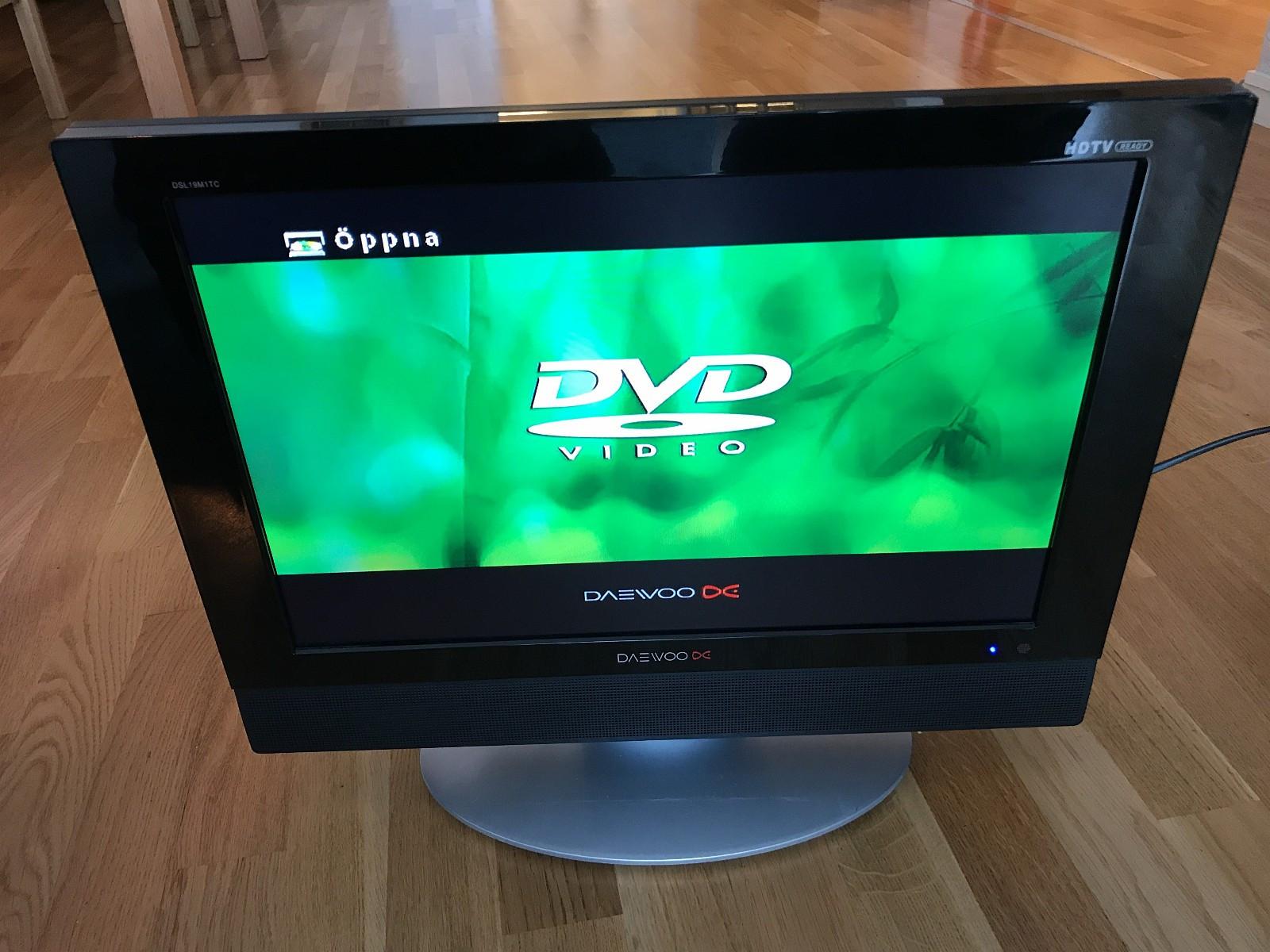 """Daewoo flatskjerm med innebygget DVD - Oslo  - 19"""" Daewoo TV med innebygget DVD spiller, minnekortleser (SD/MS/MMC) og USB-inngang.   Perfekt for hybelen!  Gis bort mot henting. - Oslo"""
