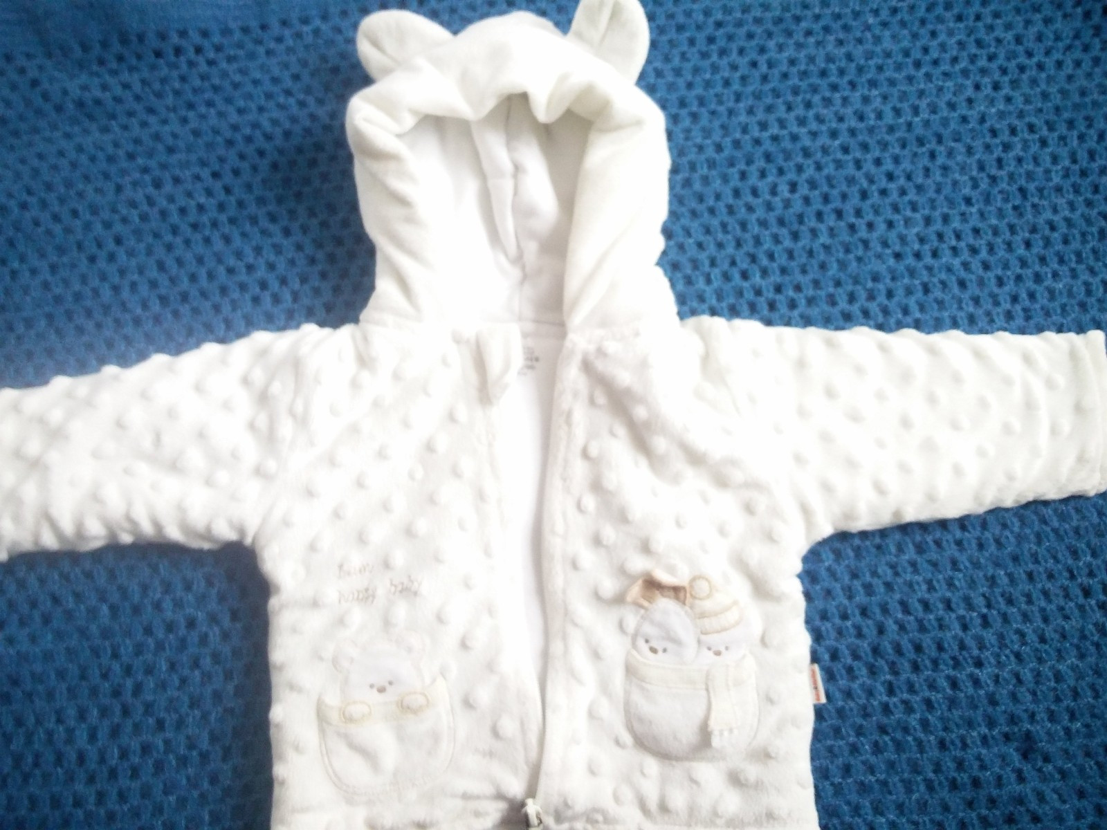 Cute warm hoodie with ears size 74 - Oslo  - Great cute warm hoodie is sold. The zip has lost the paint, look in the picture... Can be repainted. Otherwise in excellent condition - Oslo