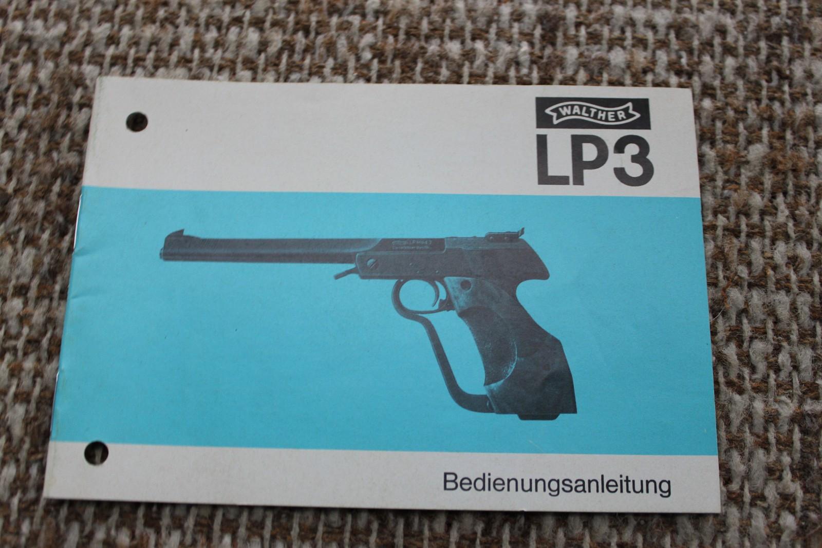 Original Walther LP3 instruksjons og deleliste - Sandnes  - Original instruksjons og deleliste Walther LP3 luftpistol. Totalt 19 sider. Frakt kommer i tillegg med kr. 25,-. - Sandnes