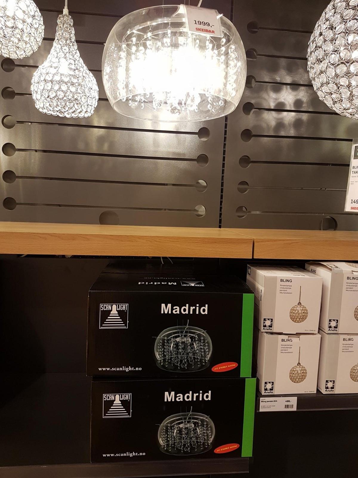 Wonderful Taklampe, Madrid | FINN.no RC-72