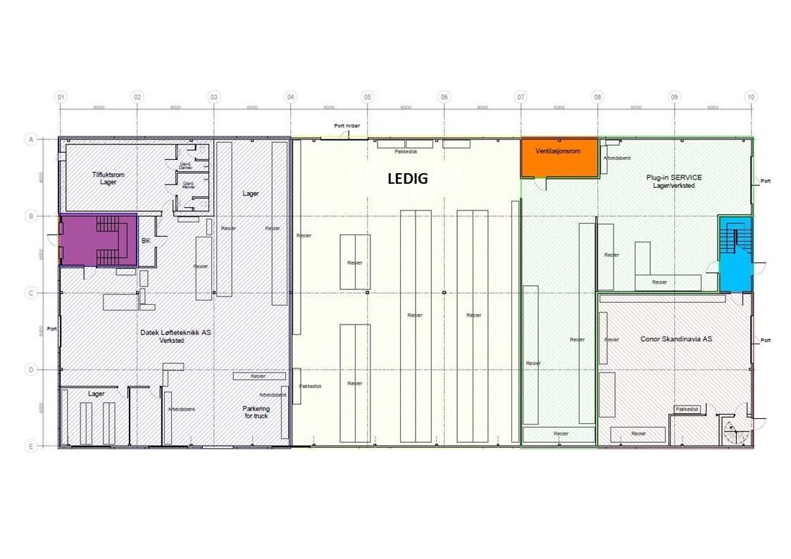 Planskisse 1. etasje - lager