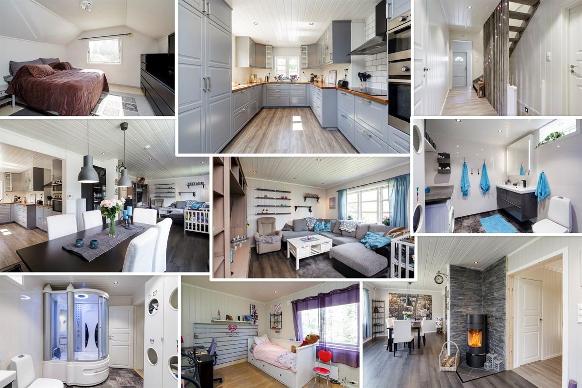 Velkommen til Sørumsvegen 77 - En innholdsrik bolig over 3 plan med delikat kjøkken og bad.