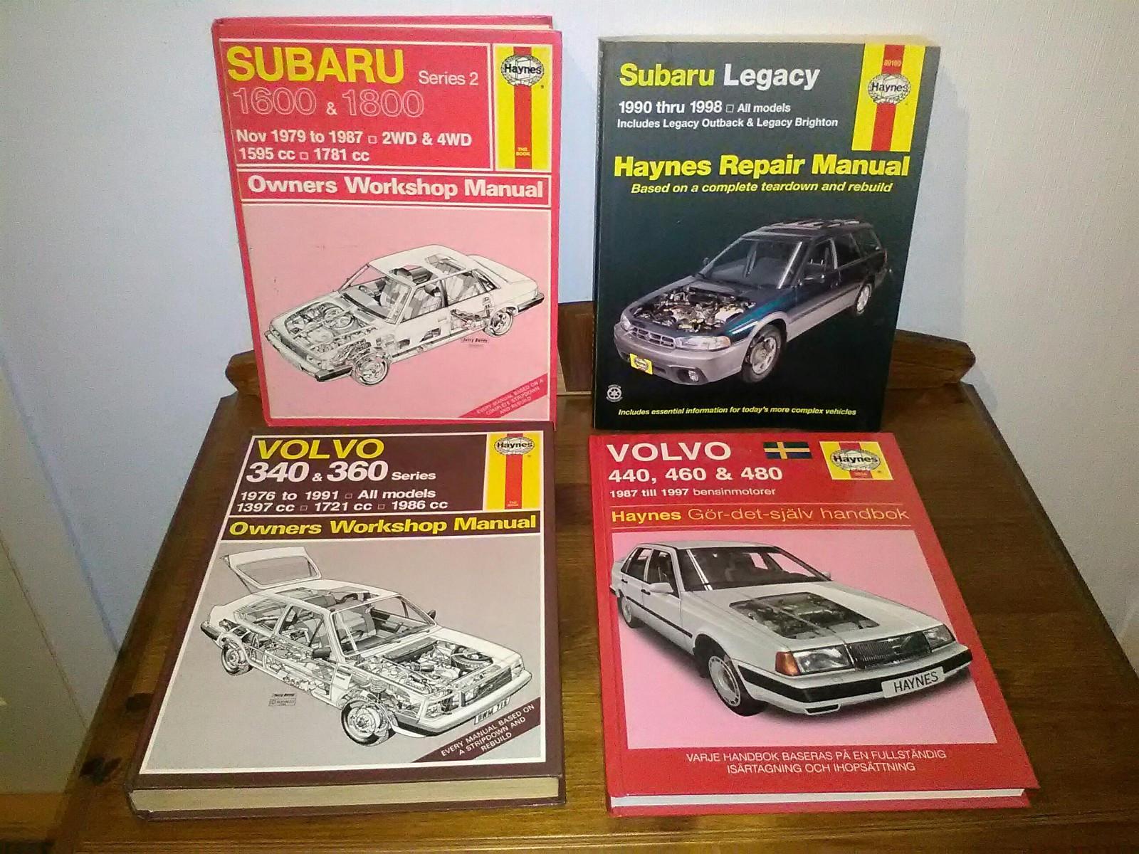 Haynes Rephndbker For Volvo 340 480subaru Legacy 1990 98 Og 1998 Subaru Outback Owners Manual 1 5