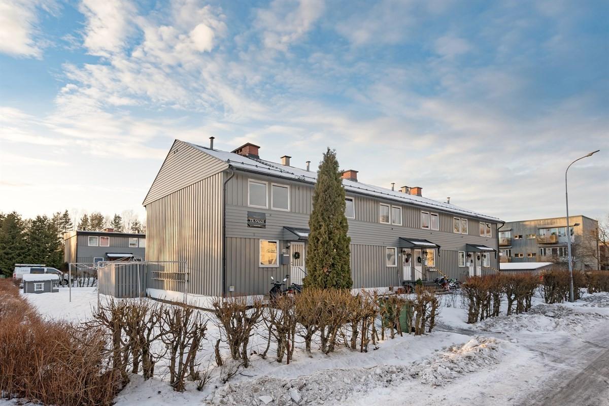 Velkommen til Åråsveien 20 A, som er et enderekkehus beliggende på Kjeller.