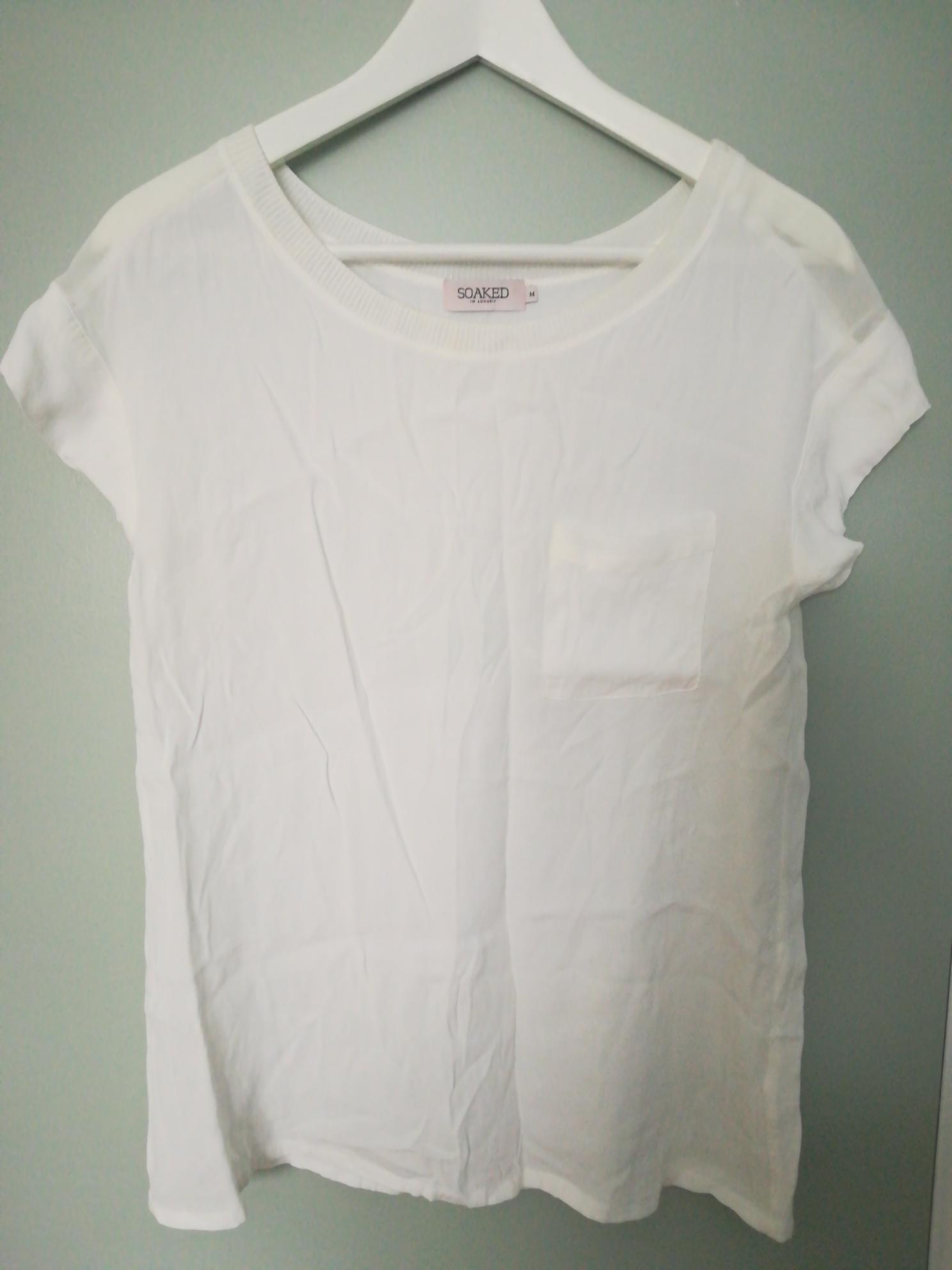96fef719 Soaked in luxury bluse/topp hvit str. M | FINN.no