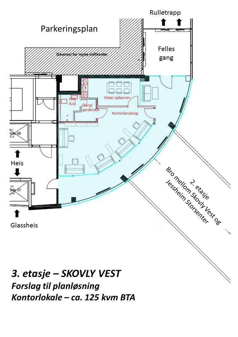 Planskisse 3 etasje - Skovly Vest