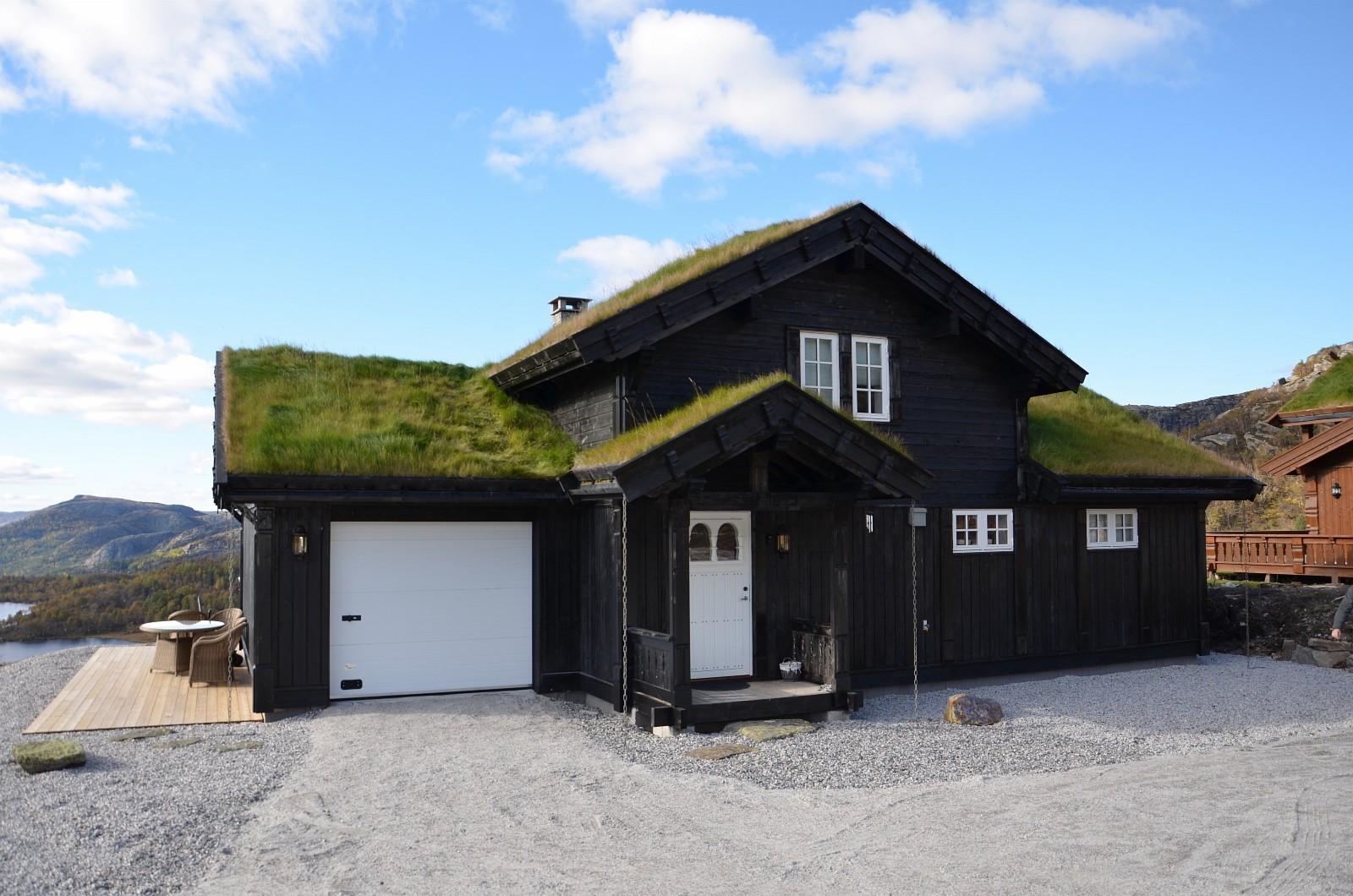Fra en tilsvarende modell Hemsedal hytte - med garasje. Kundetilpasninger kan forekomme.