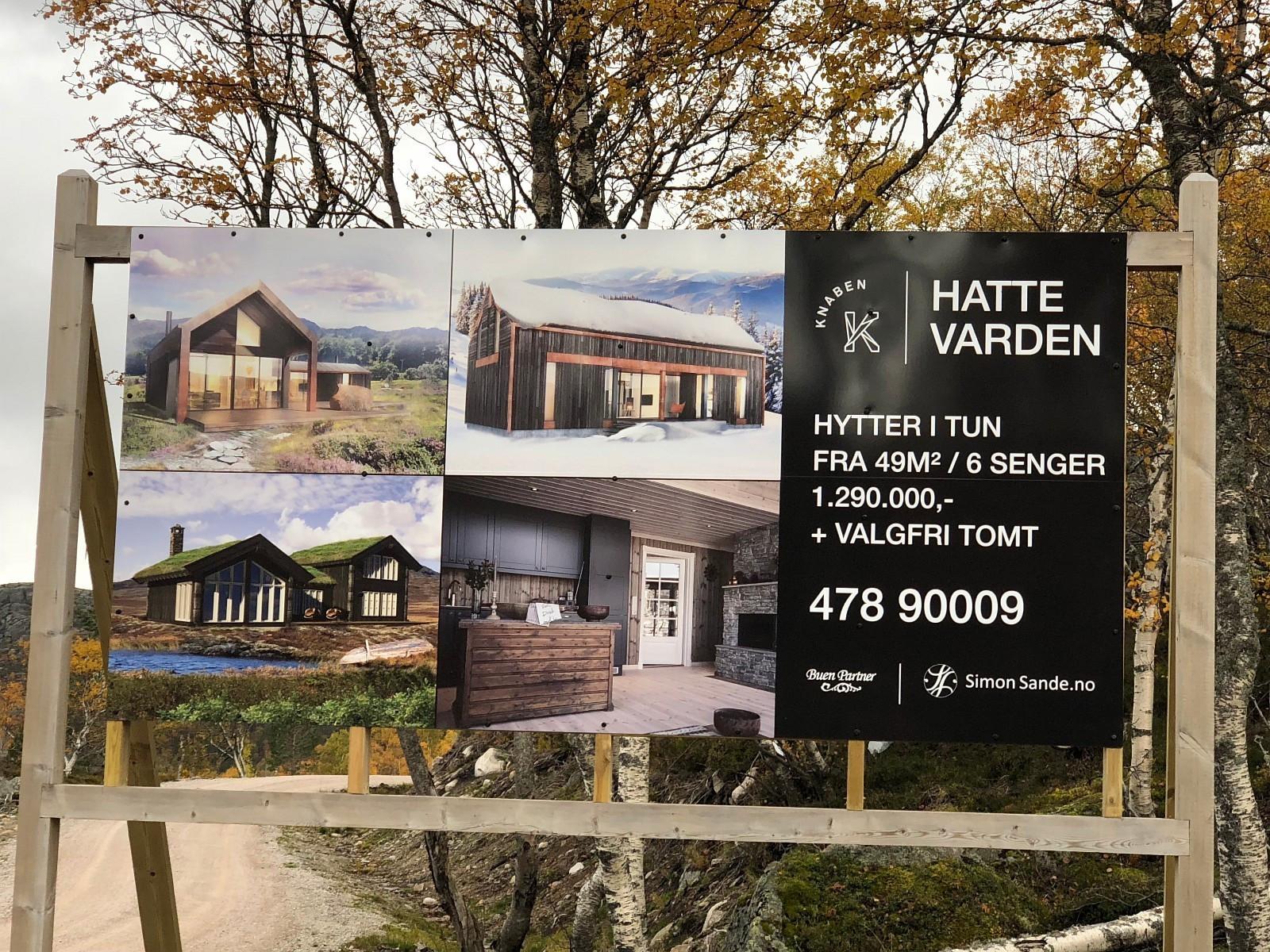 Simon Sande skal bygge totalt 100 hytter i Hattevarden Hyttegrend