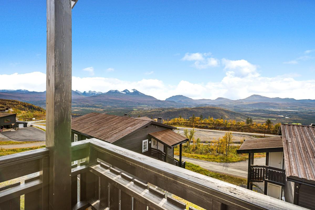 Fantastisk utsikt fra balkong