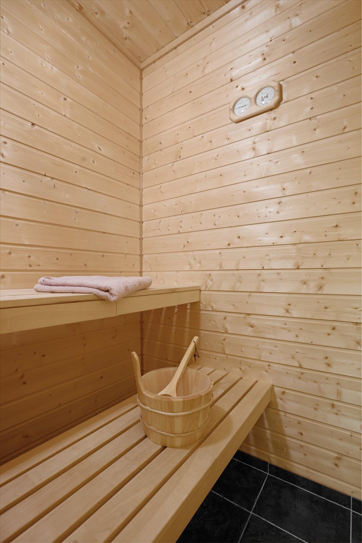 Praktisk med badstue