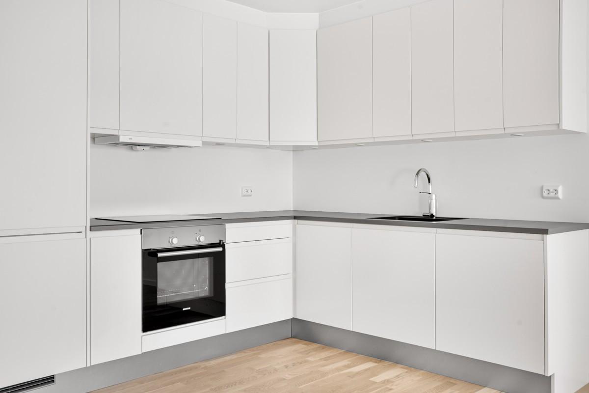 Integrerte hvitevarer (Bildet er hentet fra tilsvarende leilighet, avvik kan forekomme)