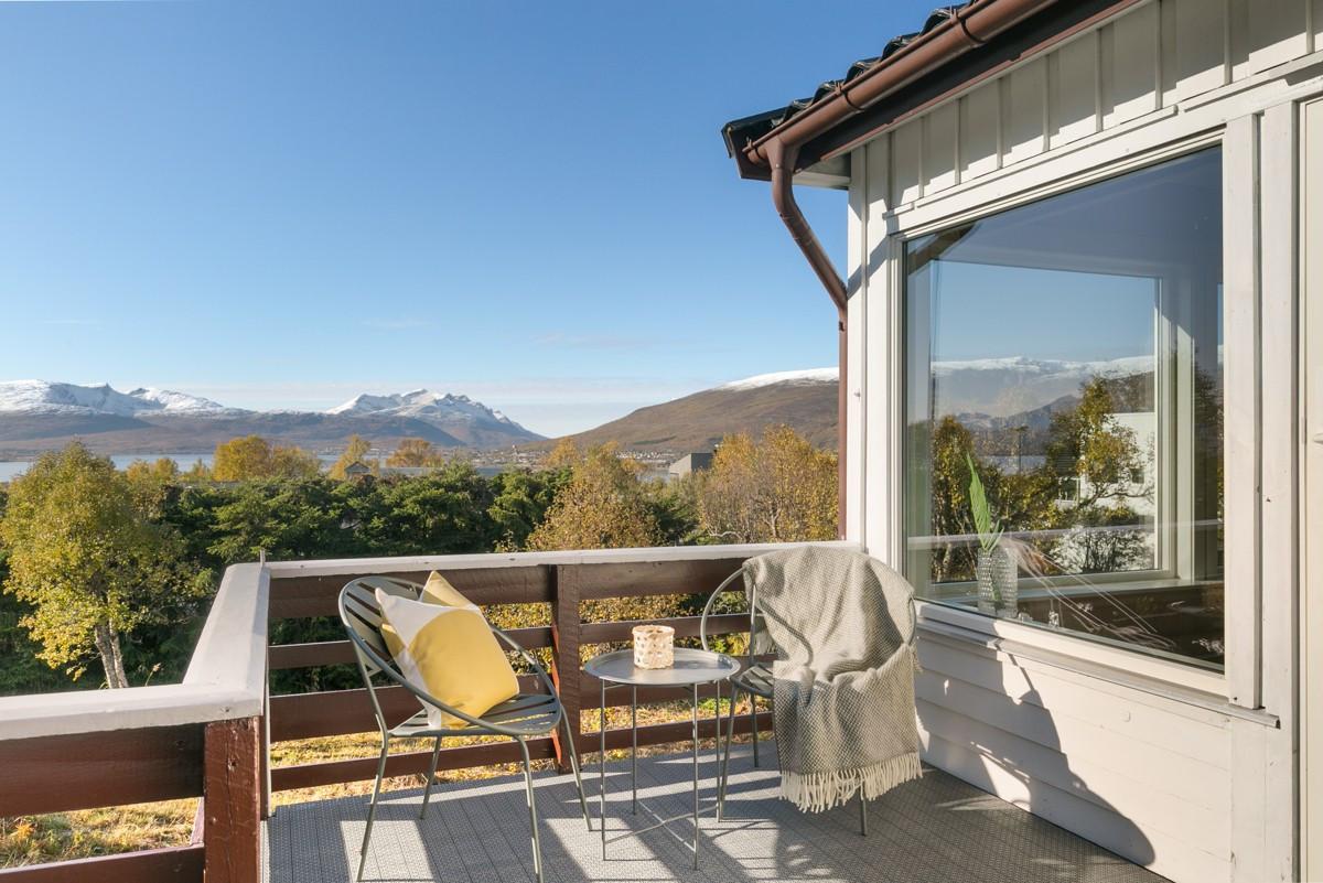 Flott utsikt fra veranda!