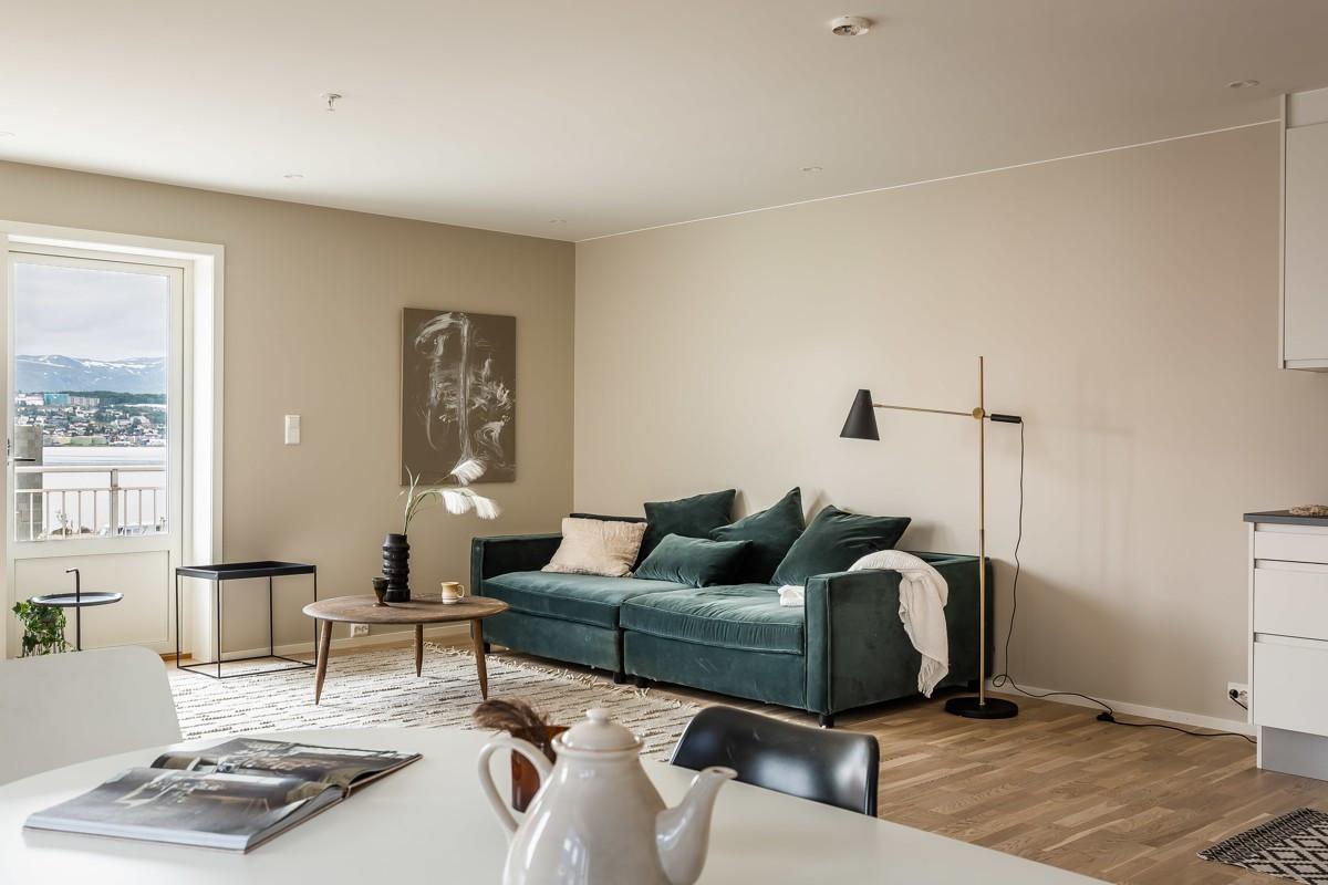 Gode møbleringsmuligheter i stue
