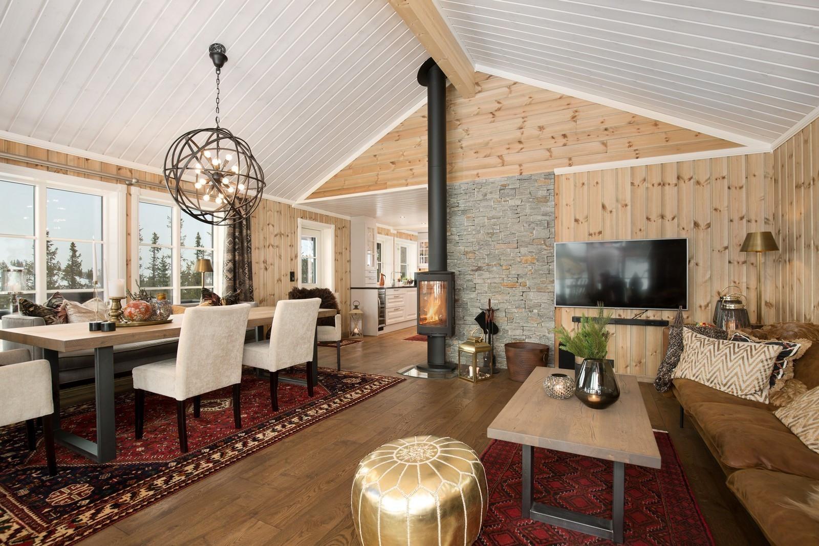 Bilde fra en kundetilpasset modell Storodde hytte