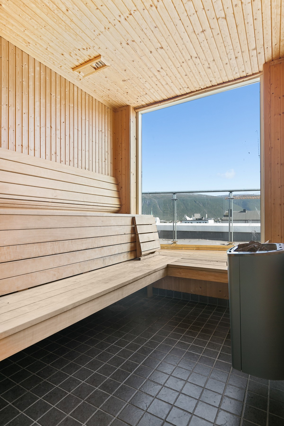 Felles badstue også på takterrasse