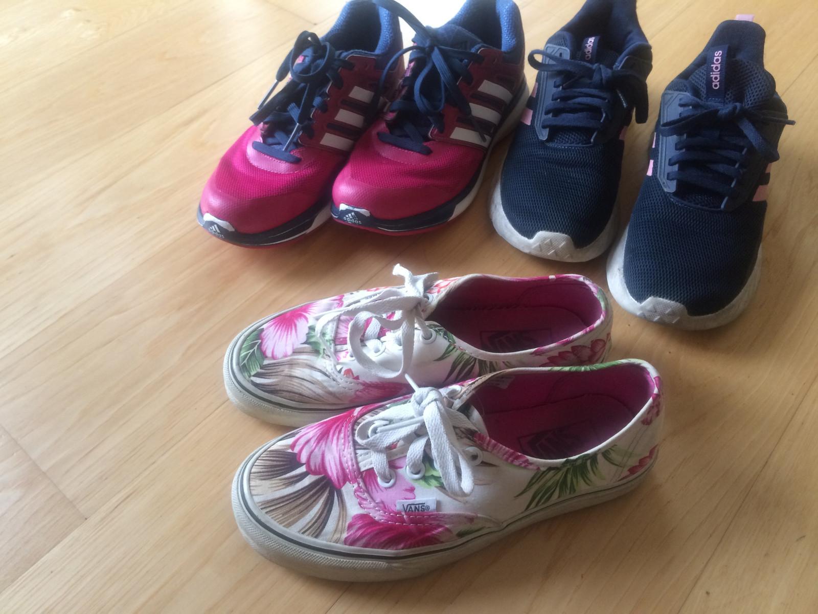 Joggesko jente Adidas og sneakers fra Vans, str. 36 | FINN.no