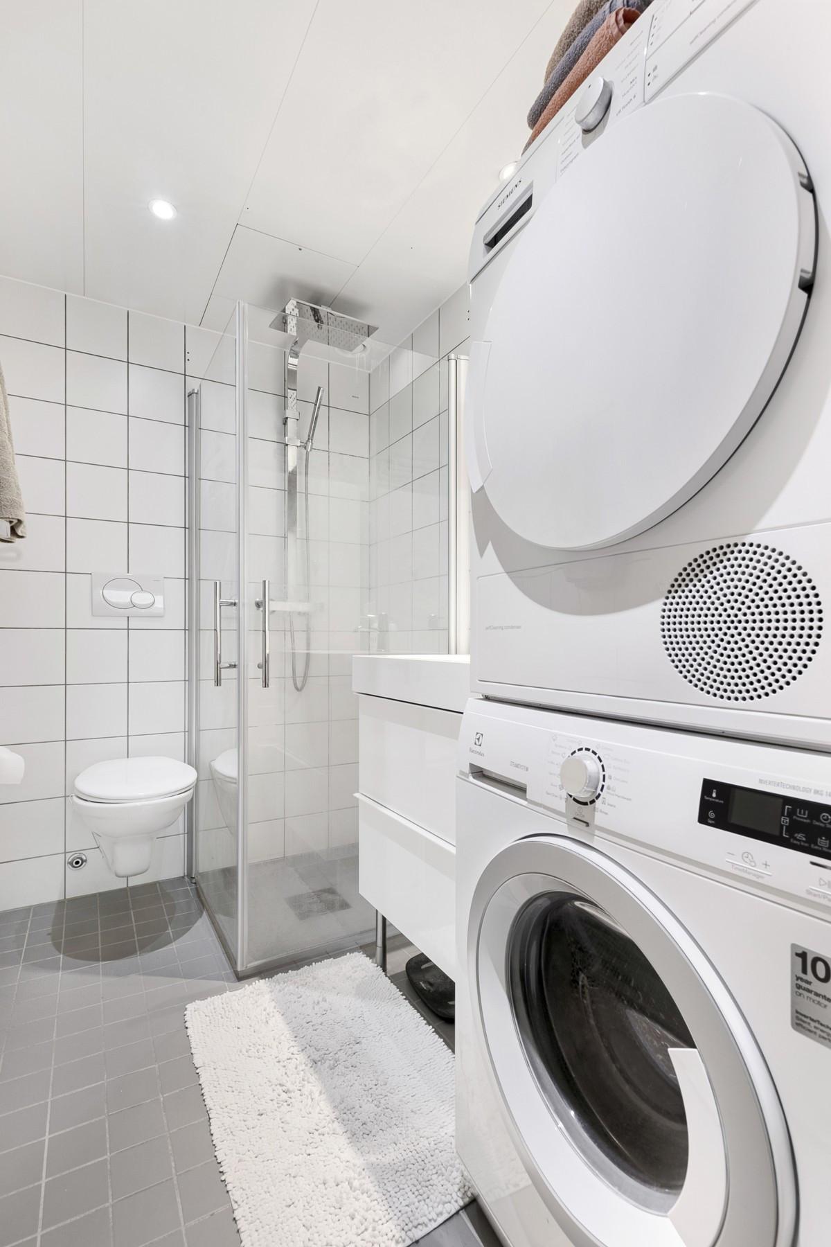 Opplegg for vaskemaskin/tørketrommel