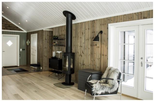 Bilde av en Beitostølen XL hytte med kundetilpasninger og tilvalg