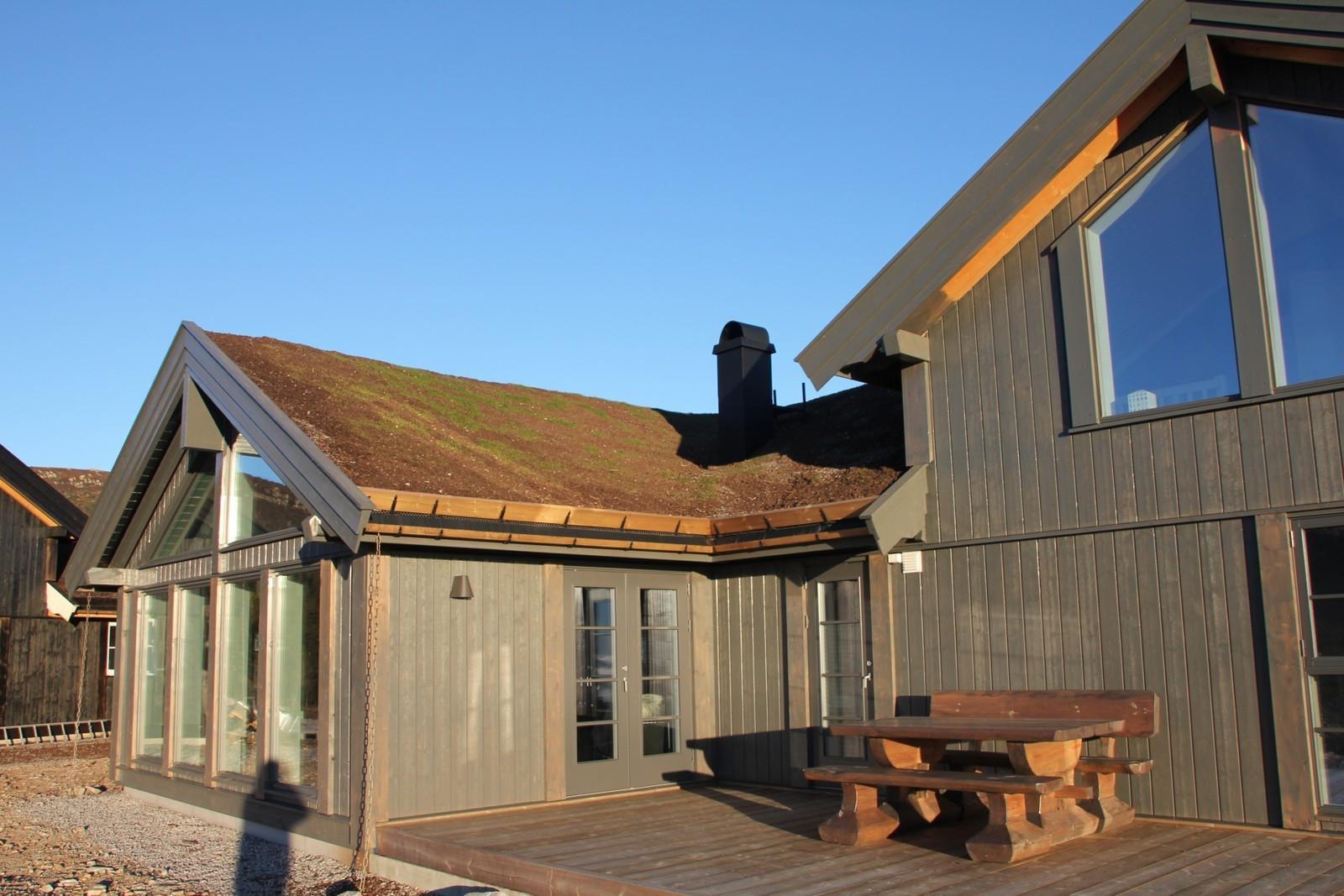 Bilde av en Beitostølen modell XL - med kundetilpasninger. Spør oss gjerne om disse, eller en visning av oppført hytte.