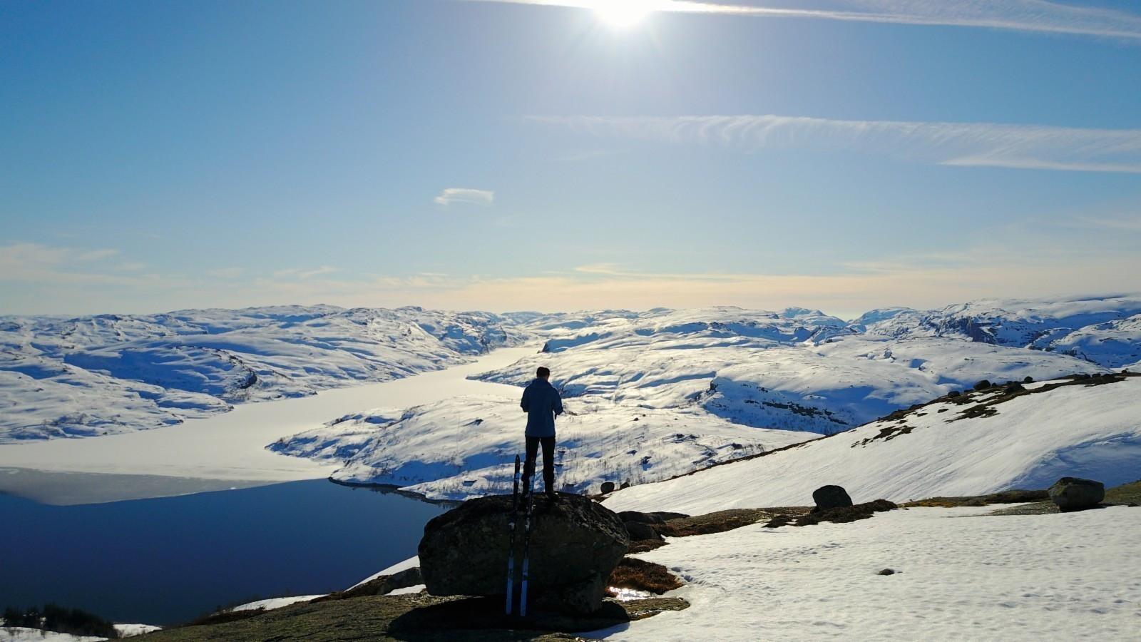 Fra Gravasstølen - utsikt mot Gravann